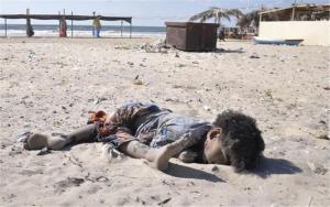 Εικόνες σοκ! Ισραηλινή οβίδα σκοτώνει τέσσερα παιδιά που έπαιζαν μπάλα σε παραλία της Γάζας